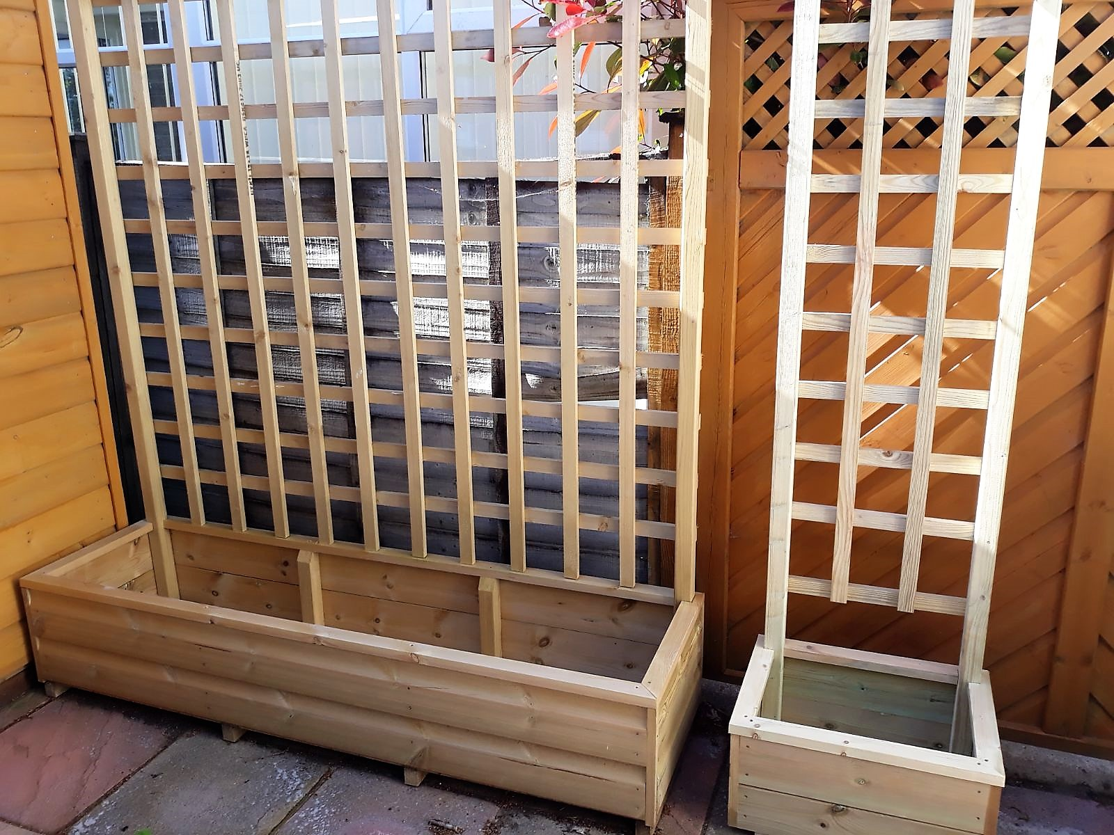 Planters With Trellis Made To Measure Morwellen Furniture